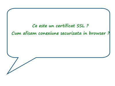 Despre certificatul SSL