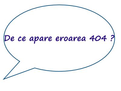Ce semnifica eroarea 404 ?